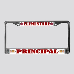Elementary Principal License Plate Frame