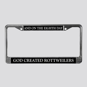 8TH DAY Rottweiler License Plate Frame