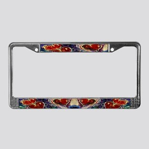Hearts Adrift License Plate Frame