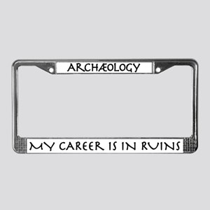 Archaeology Career Ruins License Plate Frame