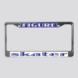 Figure Skater License Plate Frame