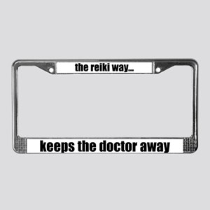 Reiki Way Keeps Doctor Away License Plate Frame