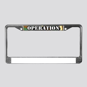 Operation Portuguese Water Dog License Plate Frame