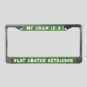 My Kid Flat Coated Retriever License Plate Frame