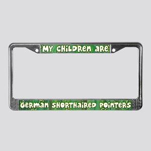 My Children German Shorthair License Plate Frame