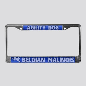 Agility Belgian Malinois License Plate Frame