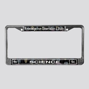 Science Retro License Plate Frame