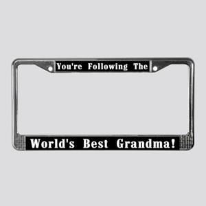 World's Best Grandma License Plate Frame