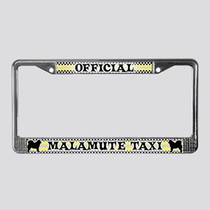 Official Malamute Taxi License Plate Frame
