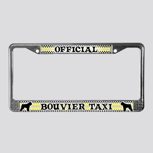 Official Bouvier Taxi License Plate Frame