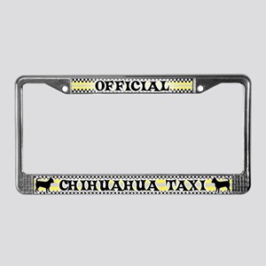 Official Chihuahua Taxi License Plate Frame