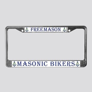 Masonic Bikers License Plate Frame