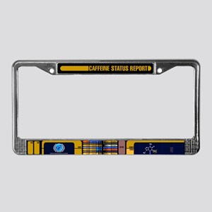 Caffeine Status Report License Plate Frame