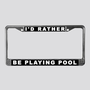 Rather Play Pool License Plate Frame