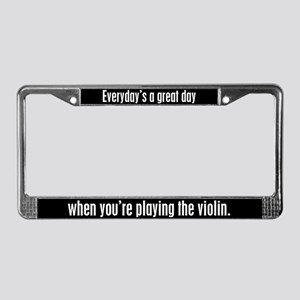 Playing Violin License Plate Frame