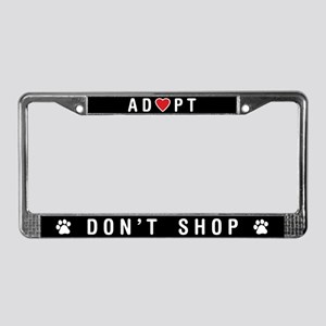 Adopt Don't Shop License Plate Frame