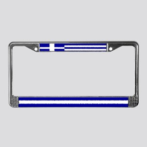 Greek Flag License Plate Frame