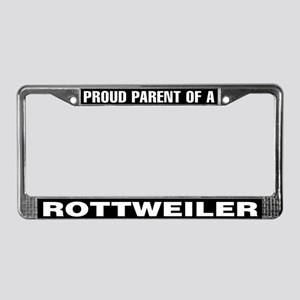 Proud Parent of a Rottweiler License Plate Frame