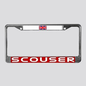 Scouser in Red License Plate Frame