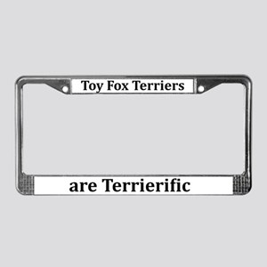 Terrierific Toy Fox Terriers License Plate Frame