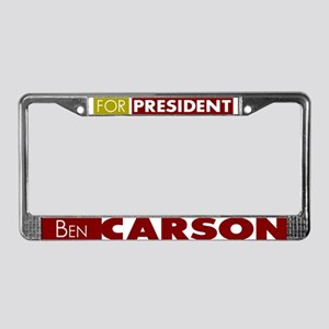 Ben Carson for President V1 License Plate Frame