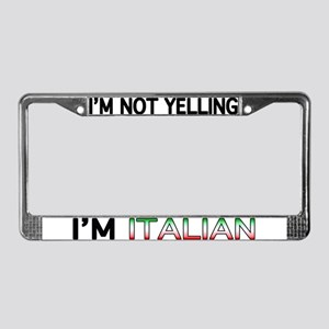 Yelling Italian License Plate Frame