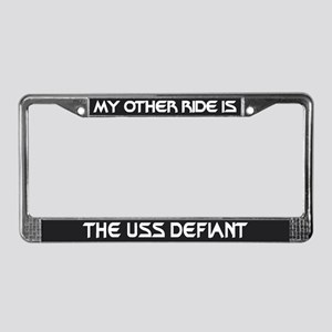 My Other Ride Is The Defiant License Plate Frame