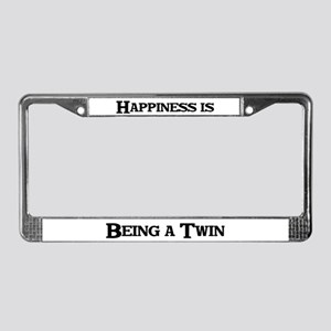 Happiness: Twin License Plate Frame