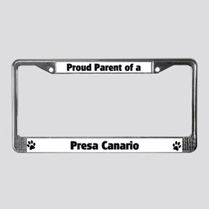 Proud: Presa Canario  License Plate Frame