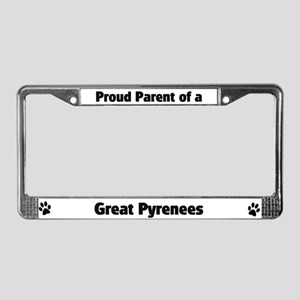Proud: Great Pyrenees  License Plate Frame
