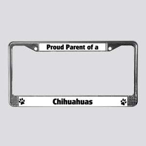Proud: Chihuahuas License Plate Frame