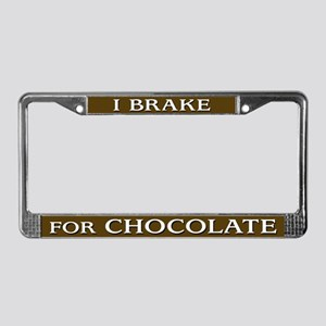 I Brake for Chocolate License Plate Frame