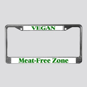 Vegan Meat-Free Zone (Green) License Plate Frame