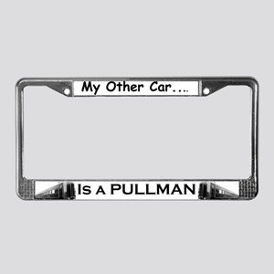 trains -License Plate Frame