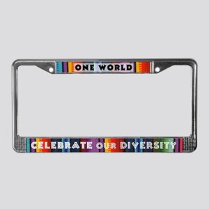 License Plate Frame - One World