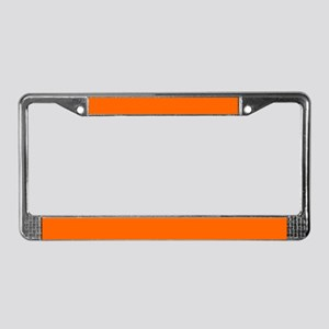 License Plate Frame Uni Orange