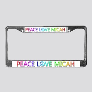 Peace Love Micah License Plate Frame
