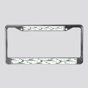 Tarpon Pattern License Plate Frame