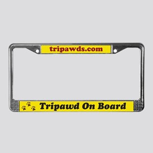 Tripawd License Plate Frame
