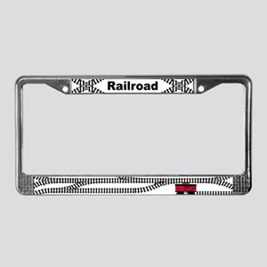 Railroad Tracks License Plate Frame
