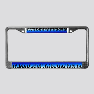 Blue Flame License Plate Frame