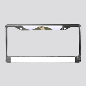 great wall of china art drawin License Plate Frame
