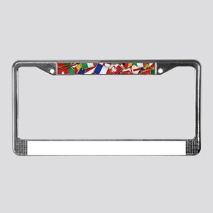 European Soccer Nations Flags License Plate Frame