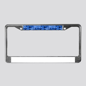 Blue Roses License Plate Frame