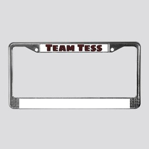Team Tess Beauty And The Beast License Plate Frame