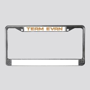 Team Evan License Plate Frame