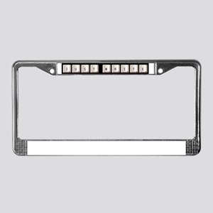 Just Write License Plate Frame