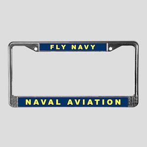 Fly Navy License Plate Frame
