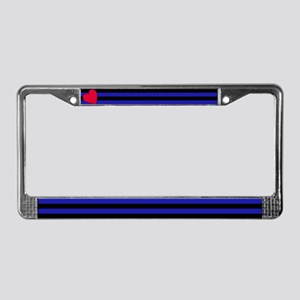 Leather Flag License Plate Frame