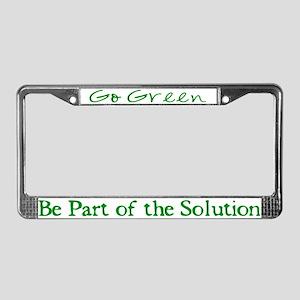 Go Green - License Plate Frame